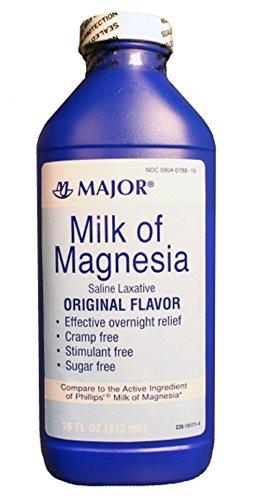 MAJOR MILK OF MAGNESIA ORIG MAGNESIUM HYDROXIDE-400 MG/5ML White 16OZ UPC 309040788160 by Major Pharmaceuticals -