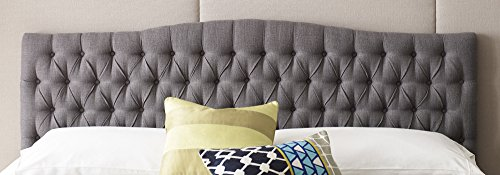 Elle Decor King Tufted Headboard in French Gray by Elle Decor