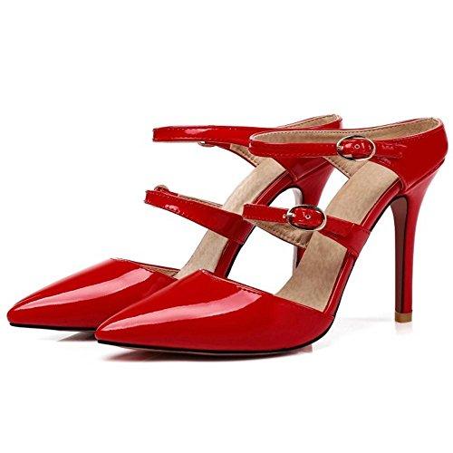 Aiguille Red Sandales Talons Femmes Mules AicciAizzi Haut 0YSq7X6w