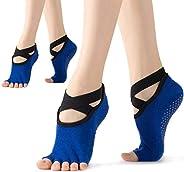 WEANMIX Non Slip Yoga Socks for Women Pilates Grip Socks Toeless Sticky Socks