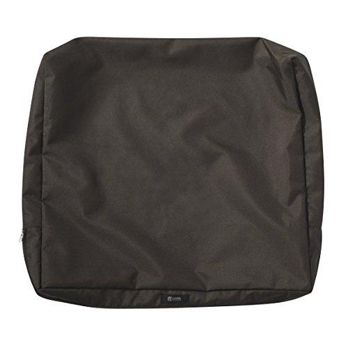 Classic Accessories Ravenna Patio Back Cushion Slip Cover, Espresso, 25″ x 22″ x 4″