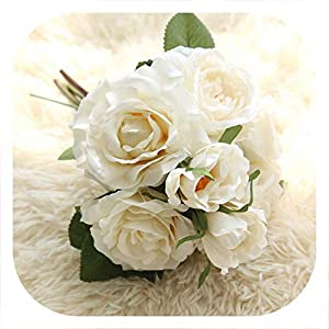 Memoirs- Artificial Flowers Rose for Wedding Party Birthday Silk Flowers DIY Decorative Flower Hydrangea Silk Flowers Wedding Decoration,3 3