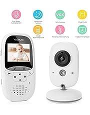 """Yissvic Babyphone 3,5"""" und 2,0"""" HD LCD Bildschirm Babymonitor mit VOX-Modus Nachtsicht Gegensprechfunktion"""
