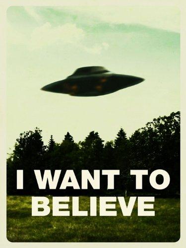 Amazon com: I Want To Believe UFO Fox Mulder X-Files 32x24 Print