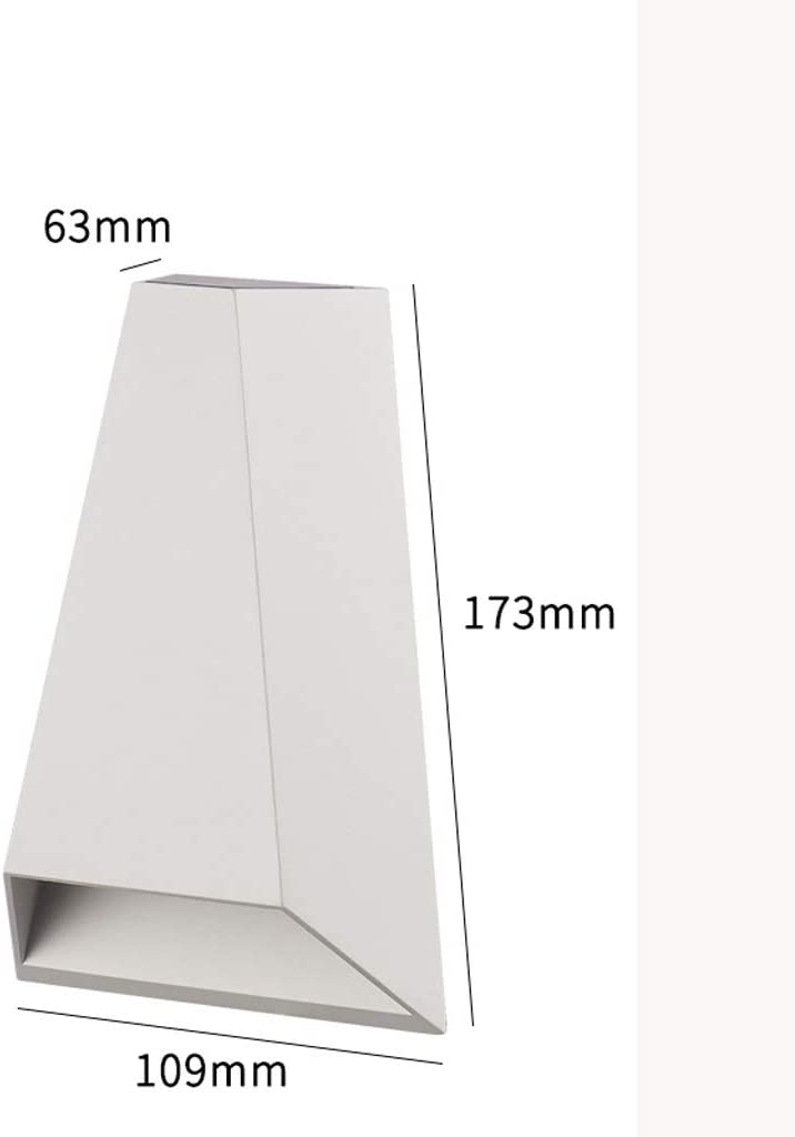 Yanghengwei Lámpara de Pared al Aire Libre Balcón Dormitorio Pasillo Impermeable Corredor Simple Patio Sala de Estar Lámpara de Pared LED A++ (Size : C): Amazon.es: Hogar
