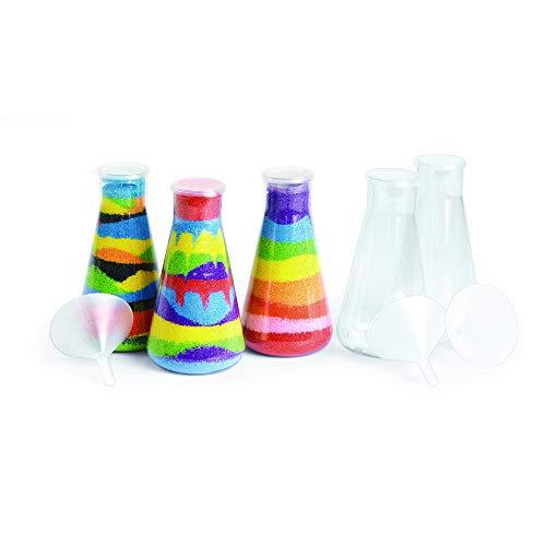(Colorations SANDBOT Super Sand Art Bottles and Funnels (Pack of 12))