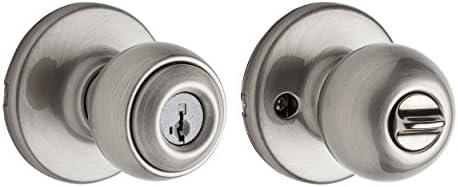 Kwikset - Pomo de entrada de polo con llave inteligente en latón ...