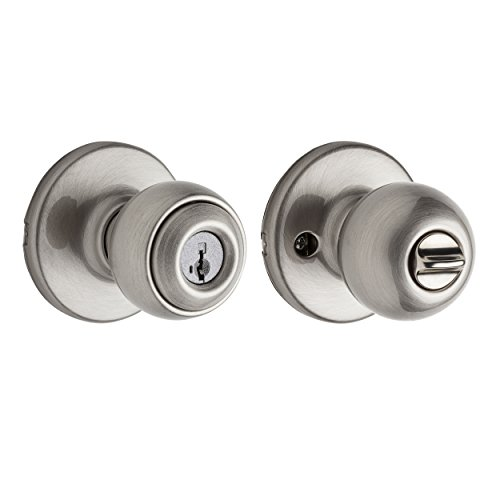 Kwikset Polo Entry Knob featuring SmartKey in Satin Nickel