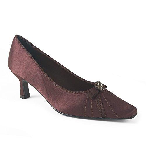 FARFALLA Luxury Court Shoes (Brown, 4UK/37EU)