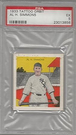 : 1933 Tattoo Orbit Baseball Al Simmons Card PSA 5