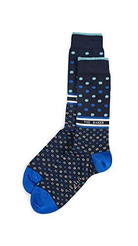 Ted Baker Men's Sanspur Socks, Navy, Blue, Print, One Size