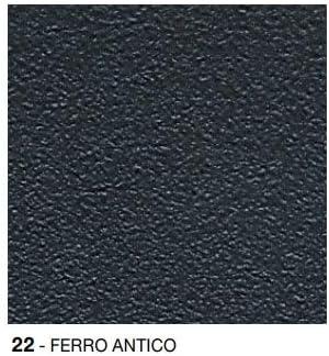 50 x 70 Art 334 Colore Ferro Antico cod Tavolo Arc en Ciel Rettangolare Pieghevole cm 22