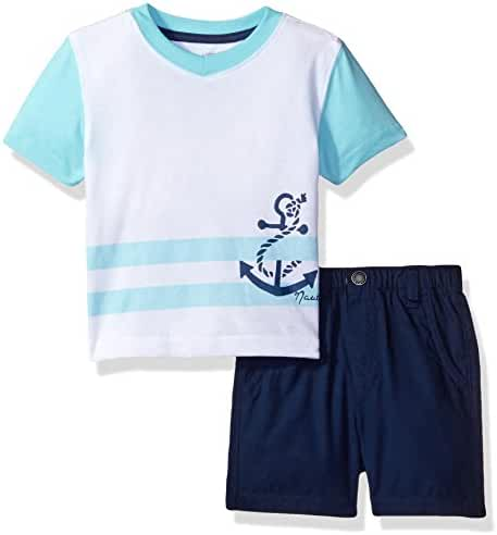 Nautica Baby Boys' Graphic Tee and Short Set