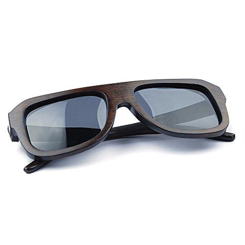 de Retro Protección a Las Lente Aclth de Playa Pesca de Mano de Sol conducción Gafas Polarized Gafas Gafas Hechas de Madera Deportivas de Marco los a Sol Vendimia TAC Sol la UV al Hombres de 4E7qd1