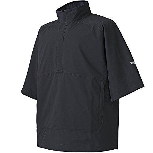 FootJoy Hydrolite Short Sleeve Rain Golf Shirt 2017 Black Small (Shirt Rain Short Footjoy Sleeve)