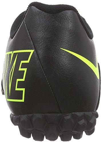 Nike Bomba II - Botas de fútbol, Hombre Negro / Verde (Black / Volt-Volt)