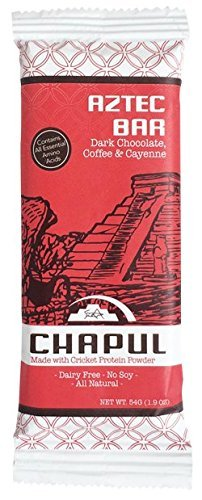 Chapul High Protein Cricket Flour Bars   Dark Chocolate Coffee Cayenne   Gluten  Soy And Dairy Free   Low Sugar   Low Net Carbs  12 Pack