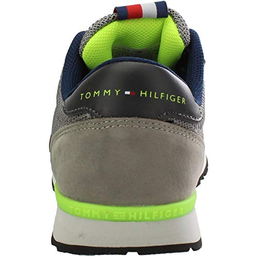 Hilfiger Tommy Trainers T3B4 0316 Eco Grey Youth Grey 30080 Nubuck TPaBwP