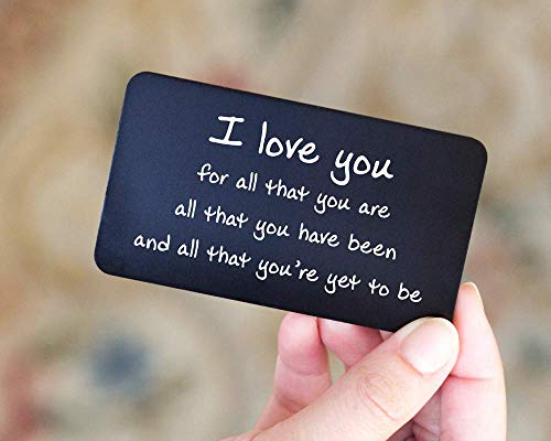 Engraved Wallet Insert Anniversary Gift for Boyfriend | Cute Gift for Husband | Unique Gifts for Men | Deployment Gifts