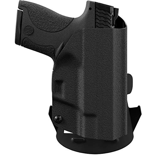 We The People - OWB Holster Compatible with Walther PPS M2 9MM Gun - Outside Waistband Concealed Carry Kydex Holster (Right Hand, Black)