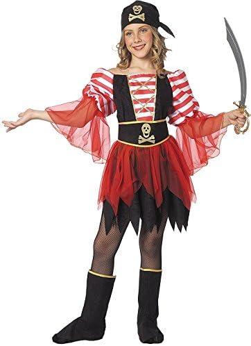 Stamco Disfraz Pirata Niña (Talla 8 - De 6 - 8 años): Amazon.es ...