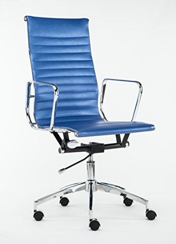 Cheap Executive High-Back Swivel Leather Office & Home Computer Desk Chair WF-8313 – BLUE