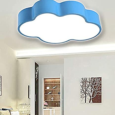 Creative Cloud Led Ceiling Lamp Craftthink Acrylic Kindergarten Children Bedroom Lighting 110v White Light Size 50x34x10cm For Kindergarten Cartoon Rooms Ceiling Lamps 19 5inch Blue Amazon Com