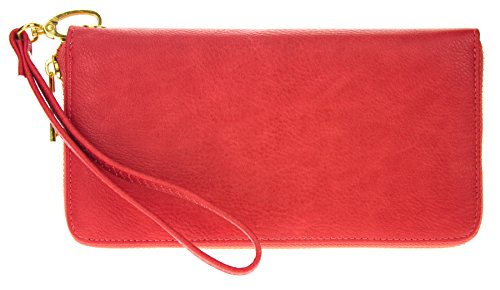 Womens Single Leather Wristlet Organizer
