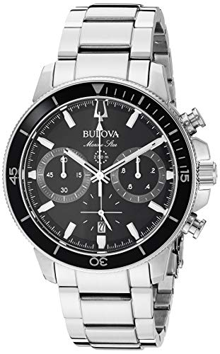 Bulova Mens Diamond Marine - Bulova Dress Watch (Model: 96B272)
