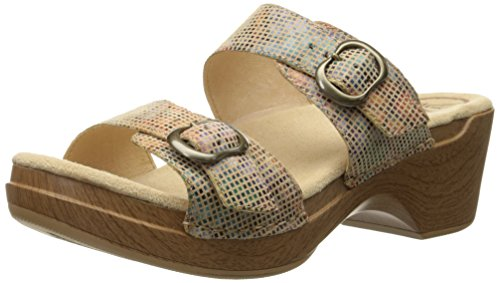 Dansko Women's Sophie Wedge Sandal, Sand Stained Glass, 38 EU/7.5-8 M US by Dansko