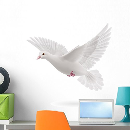 Wallmonkeys White Dove Wall Decal Peel and Stick Animal Graphics (24 in H x 24 in W) WM362938 by Wallmonkeys