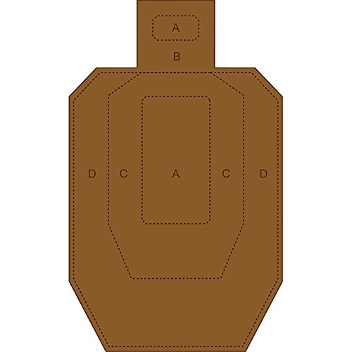 24 Pcs, Ipsc/Uspsa Cardboard Torso Target White On One Side And Brown On The Reverse Size: 18