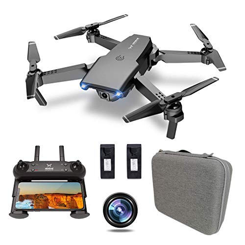 NEHEME NH525 Foldable Drones with Original Carry Case for Travel, RC Quadcopter with 720P HD Camera, WiFi FPV Live Video…