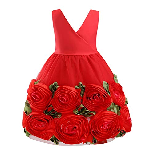 Mayunn Kids Baby Girls Formal Flower Girl Dress Princess Bridesmaid Party Wedding Pageant Dress Outfits Sets Clothes