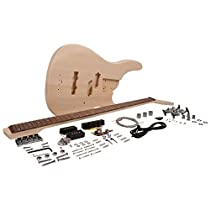 Seismic Audio - SADIYG-18 - Modern Bass Style DIY Electric Bass Guitar Kit - Unfinished Luthier Project