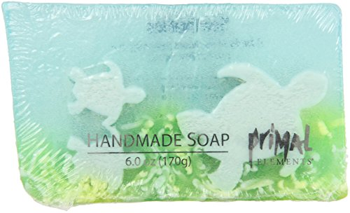 Primal Elements Bar Soap, Sea Turtles, 6.0 Ounce Turtle Bar