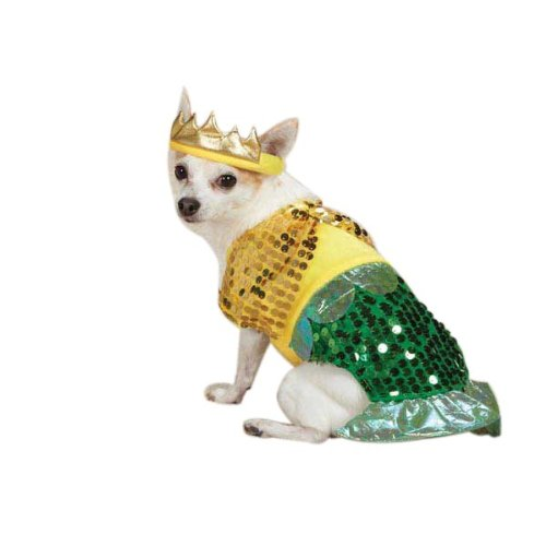 Zack & Zoey Lil' Furrmaid Dog Costume, Large, Gold