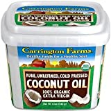 Carrington Farms 100% Organic Extra Virgin Coconut Oil, 12 Oz (1)