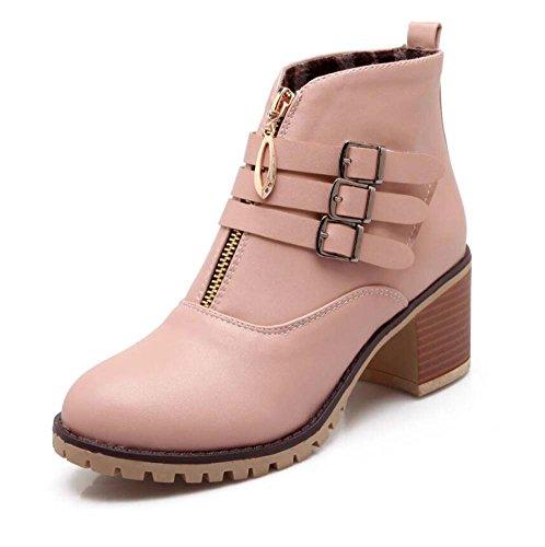 Pura Mujer Zapatos Color Ronda Moda Bota Boots New Tama Zipper Toe Casual Corte Zapatos Eu Chelsea Winter Heel o Auturm 6cm Hebilla 44 Chunkly Botas Botas Martin Hebilla Botas Pin Color 32 Zapatos Zq7OwO