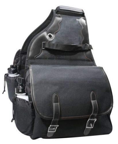 Showman 600 Denier Deluxe Insulated Nylon Saddle Bag (Black)