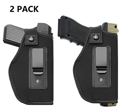 TACwolf Inside IWB Holster Waistband Fits All Firearms S&W M&P Shield 9/40  1911 Taurus PT111 G2 Sig Sauer Glock 17 19 26 27 42 43 Springfield XD XDS