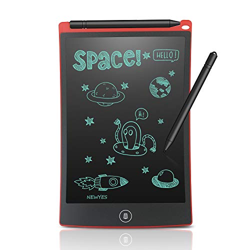 NEWYES 8.5 Inches LCD Writing Tablet Office Whiteboard Bulletin Board Kitchen Memo Notice Fridge Board Magnetic Daily Planner Gifts for Kids (Red)