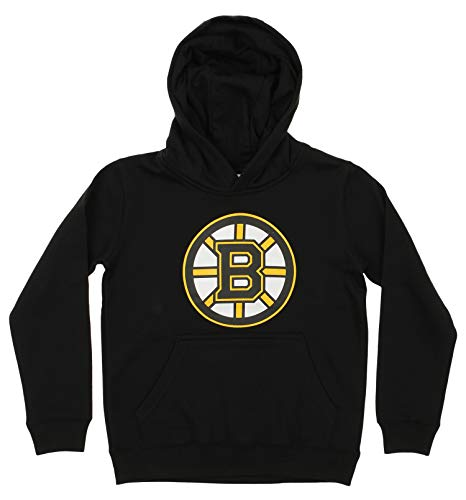 - Outerstuff NHL Youth Boy's (8-20) Primary Logo Team Color Fleece Hoodie, Boston Bruins Medium(10-12)
