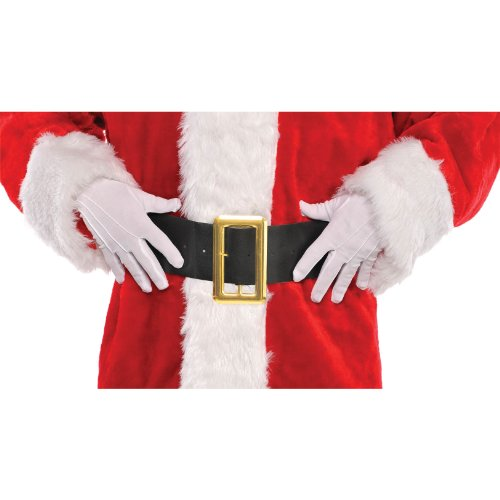 Santa White Cotton Gloves, 1 pair | Christmas Accessory]()