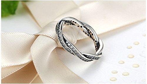 Amazon.com: Dixey Luxury Anillos Sortijas 18k de Compromiso Aniversario Matrimonio Boda Oro Plata Anel De Prata 925 Joyeria Fina Para Mujer: Jewelry