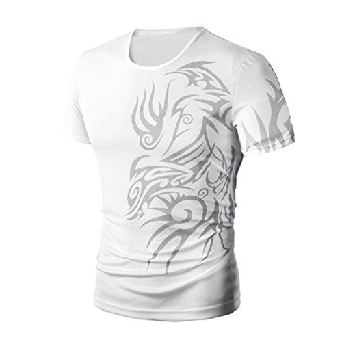 Short-sleeved T-shirt,BeautyVan Personal Design Men Summer Fashion Printing Men's Short-sleeved T-shirt