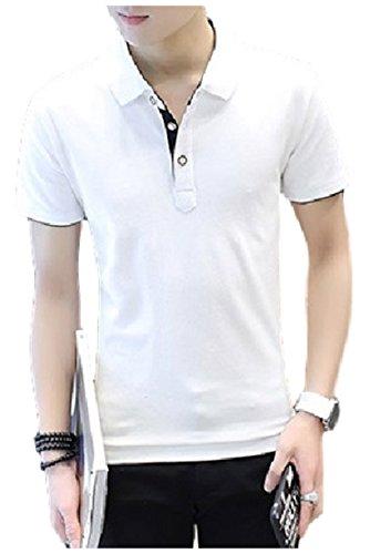 [エムズ ミミ] ポロシャツ トップス 半袖 オシャレ レイヤード風 メンズ 4色展開 M~XXL