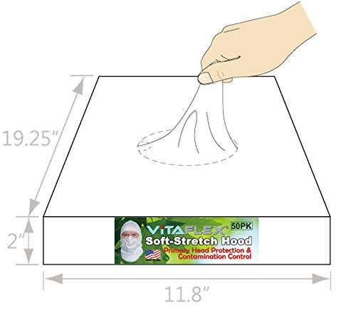 Soft-stretch Spray Foam Painter's Hood Spary Sock, Superior Protection to Disposable Hood and Lower Cost. $1.16 Ea, 50 Per Pack by VitaFlex Soft-stretch Hood (Image #1)