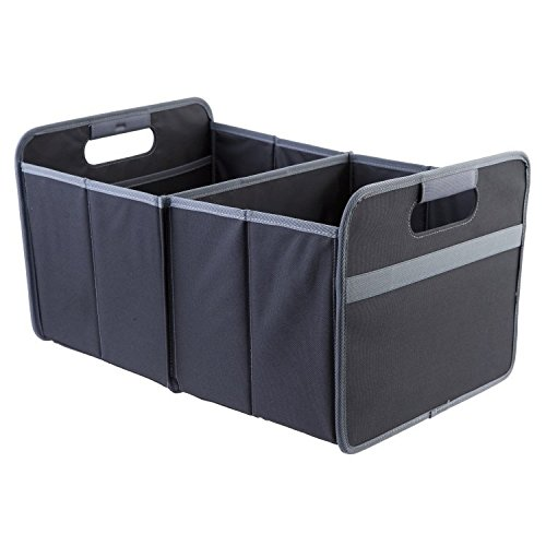 meori Classic Collection Large Foldable Storage Box, 30 Liter / 8 Gallon, in Lava Black To Organize and Carry Up To 65lbs