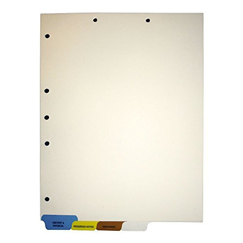 (S-9211) Chart Divider Sets, Medical, End Tabs, 1/4th Cut (100 Sets of 4 Tabs) - (4 Boxes)